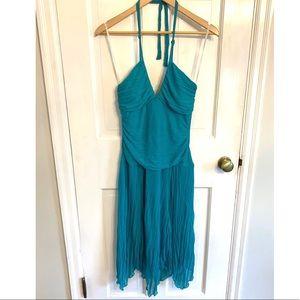 Rampage Teal Halter Homecoming Dress